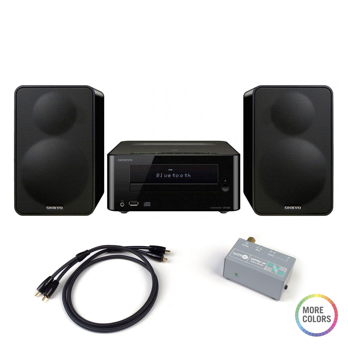 Onkyo: CS-265 Colibrino Mini Hi-Fi System + Phono Preamp Package