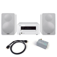 Onkyo: CS-265(W) Colibrino Mini Hi-Fi System + Phono Preamp Package