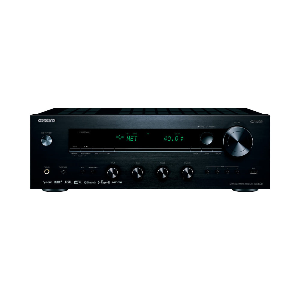 Onkyo: TX-8270 Network Stereo Receiver with Built-In HDMI, Wi-Fi & Bluetooth