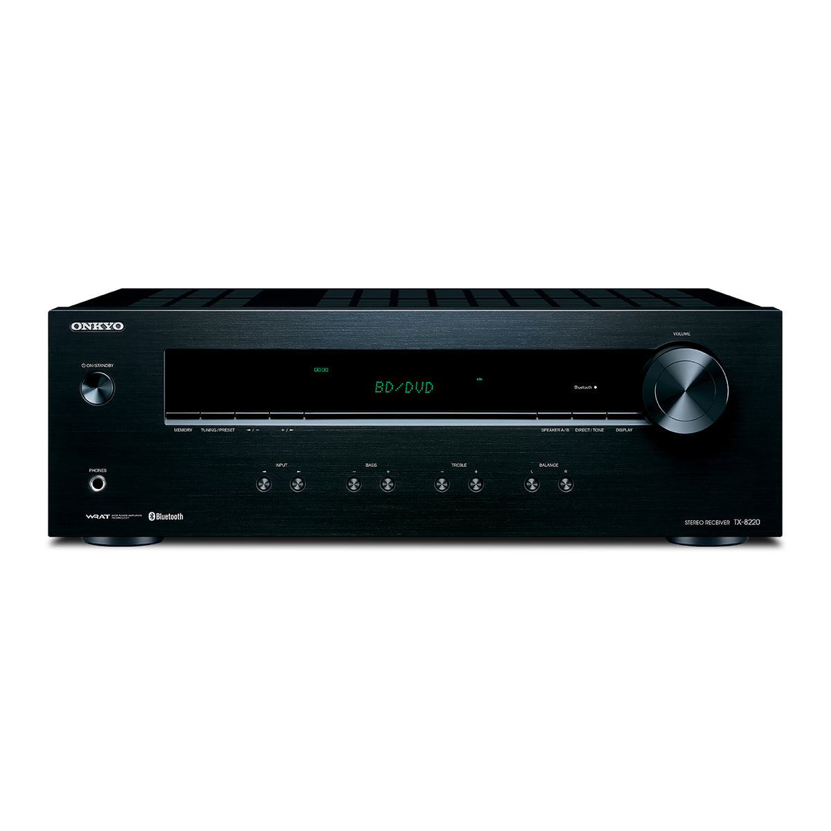 Onkyo: TX-8220 Stereo Receiver (FM/AM, Amplifier, Phono Preamp, Bluetooth)