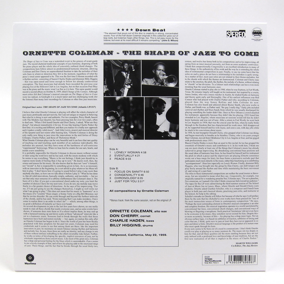Ornette Coleman: The Shape Of Jazz To Come (180g) Vinyl LP