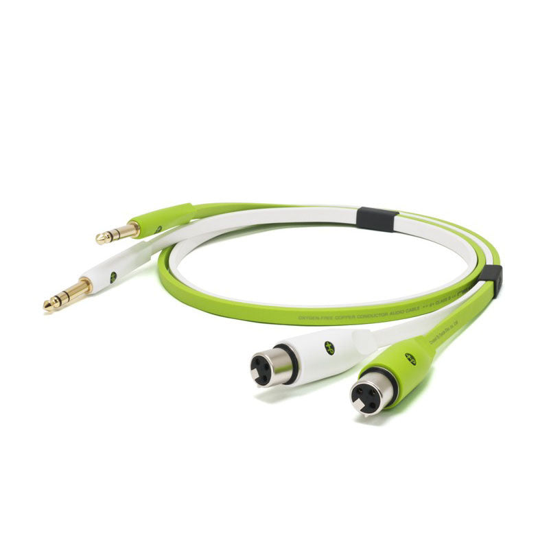 "Oyaide: NEO Class B XLR Female to 1/4"" TRS XFT Cable, 2.0m - Green"