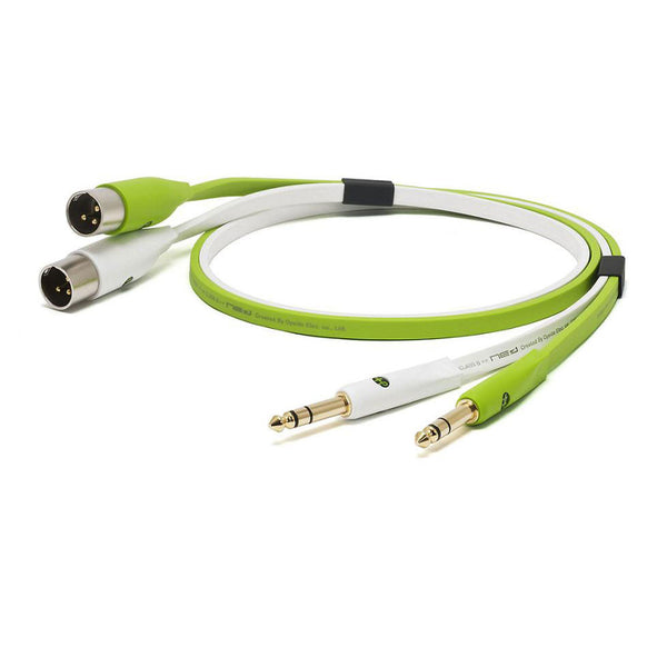 "Oyaide: NEO Class B 1/4"" TRS to XLR Male TXM Cable, 2.0m - Green"