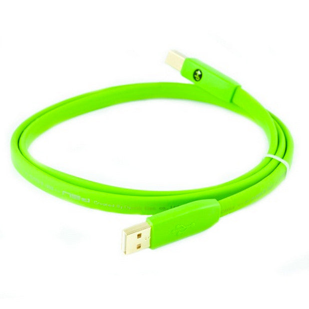 Oyaide: NEO Class B USB 2.0 A to B Flat Cable, 1.0m - Green