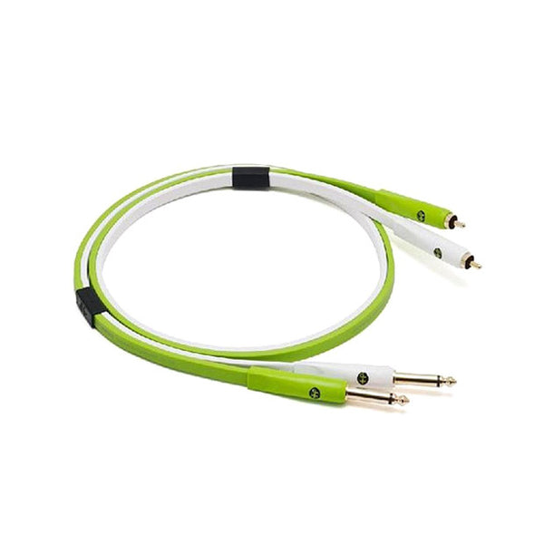 "Oyaide: NEO Class B RCA to 1/4"" Cable, 1.0m - Green 2"