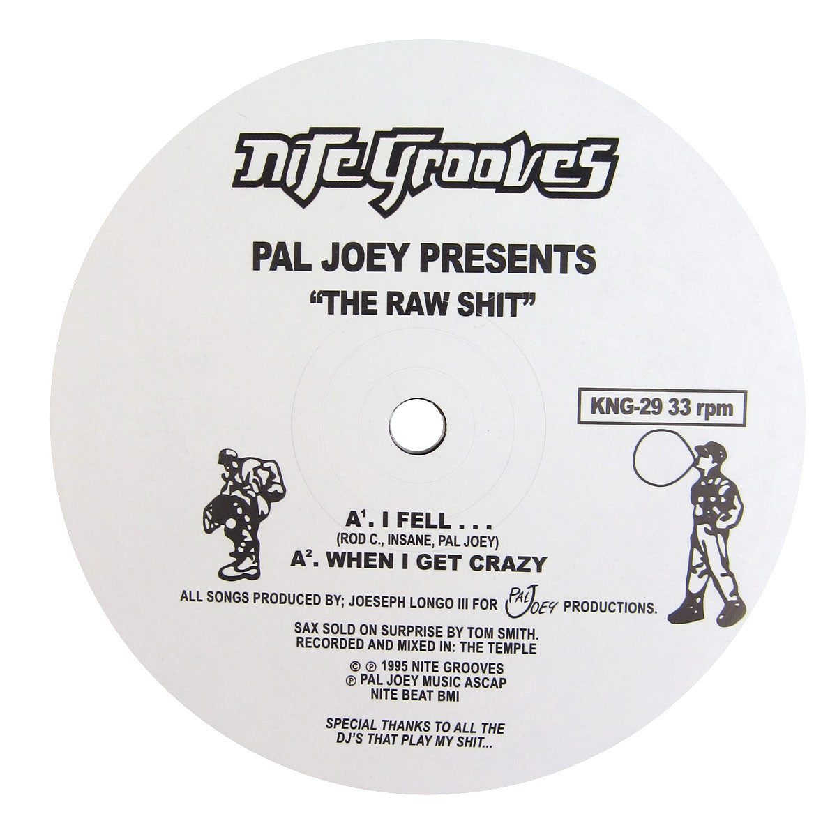 Pal Joey: The Raw Shit Vinyl 12""