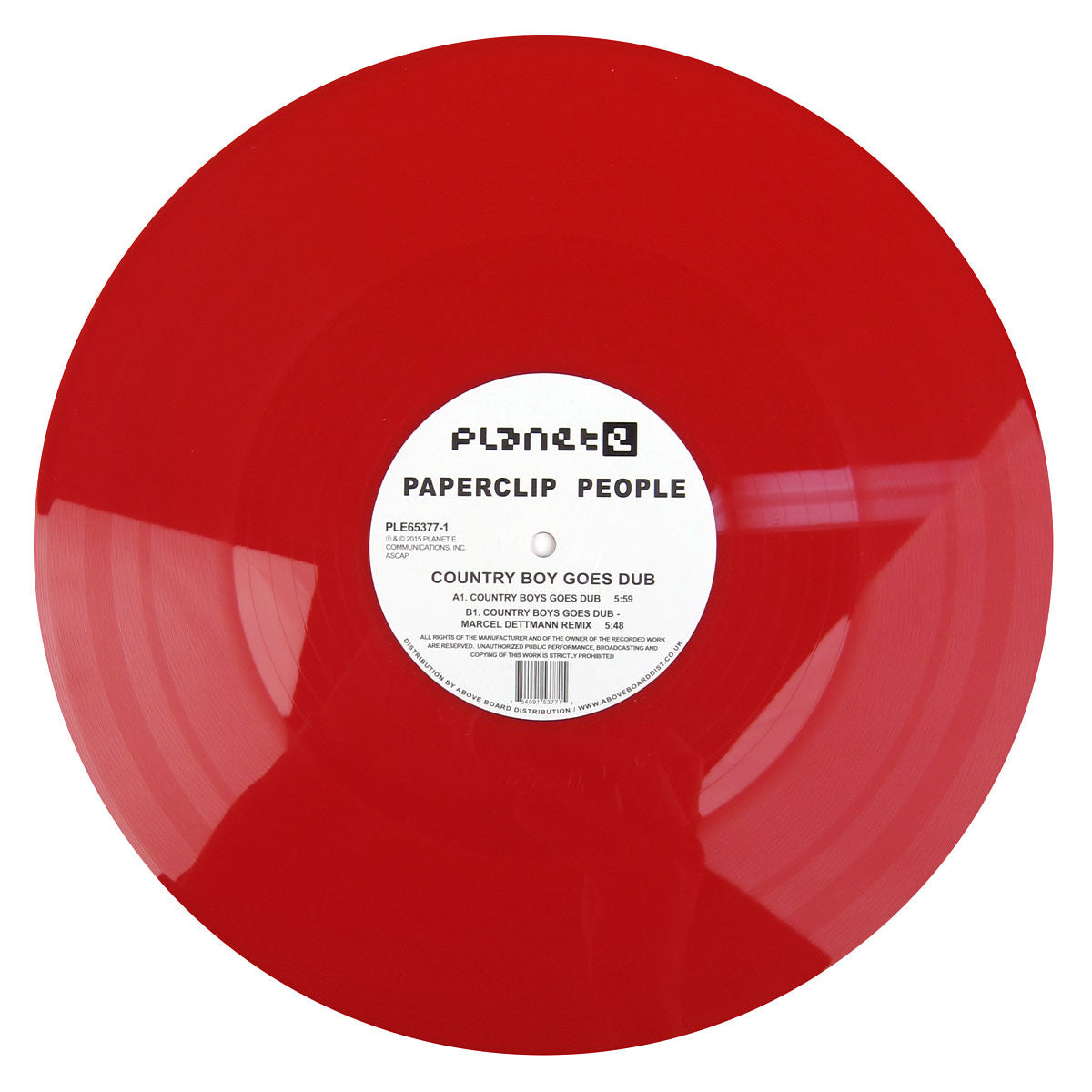 Paperclip People: Country Boy Goes Dub (Carl Craig, Colored Vinyl) Vinyl 12""