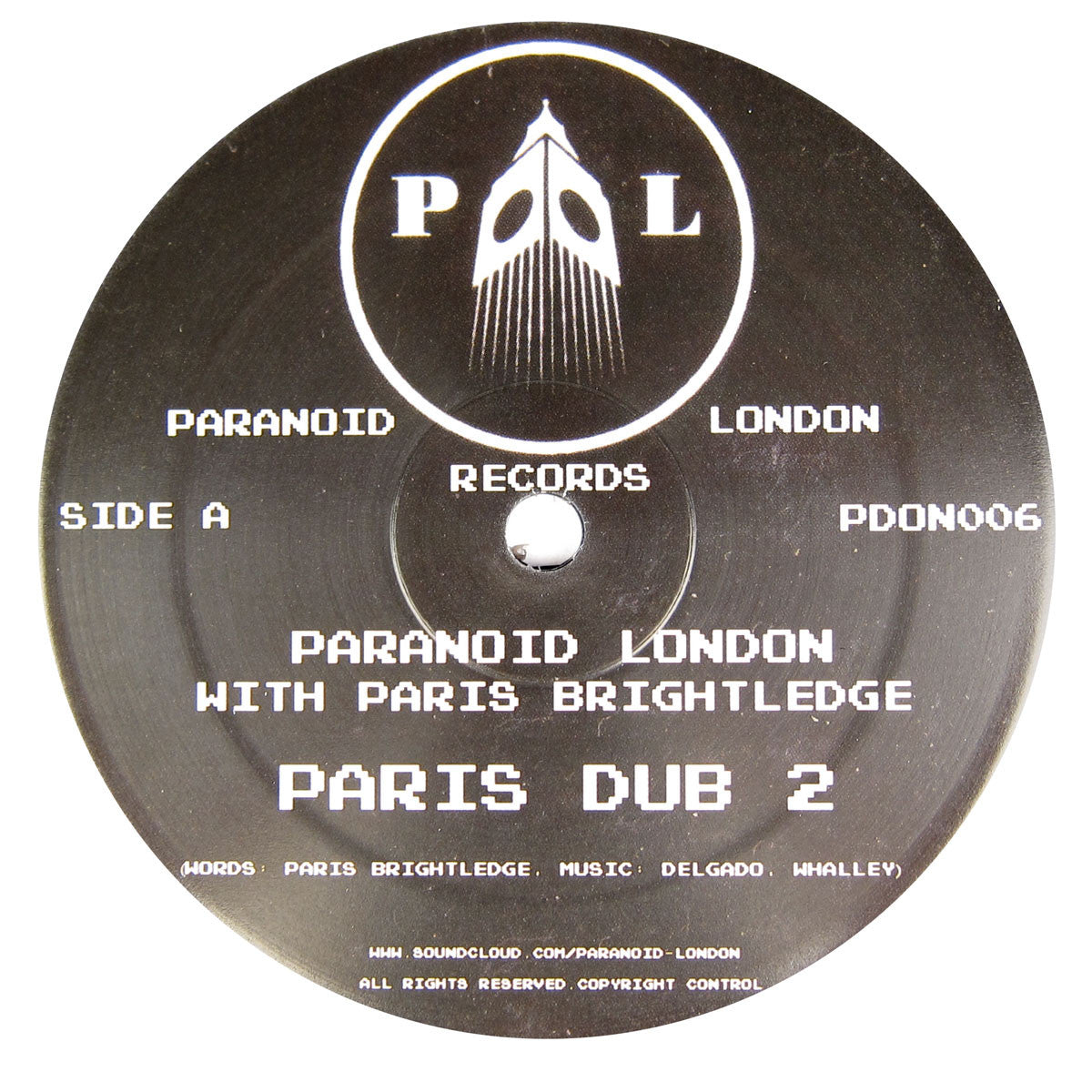 Paranoid London: Paris Dub Vinyl 12""