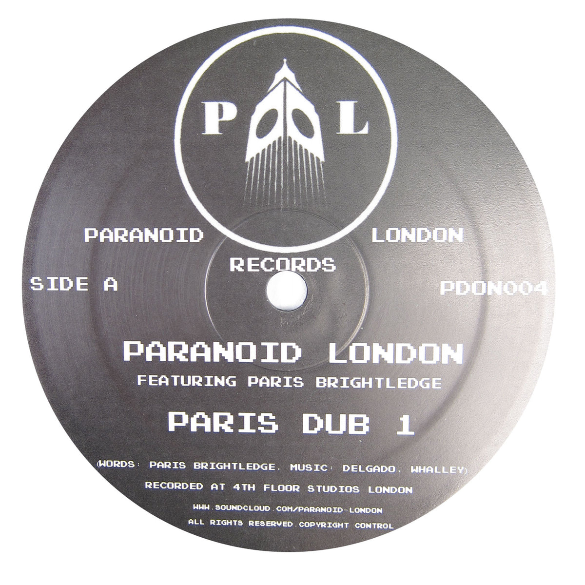 Paranoid London: Paris Dub 1 Vinyl 12""