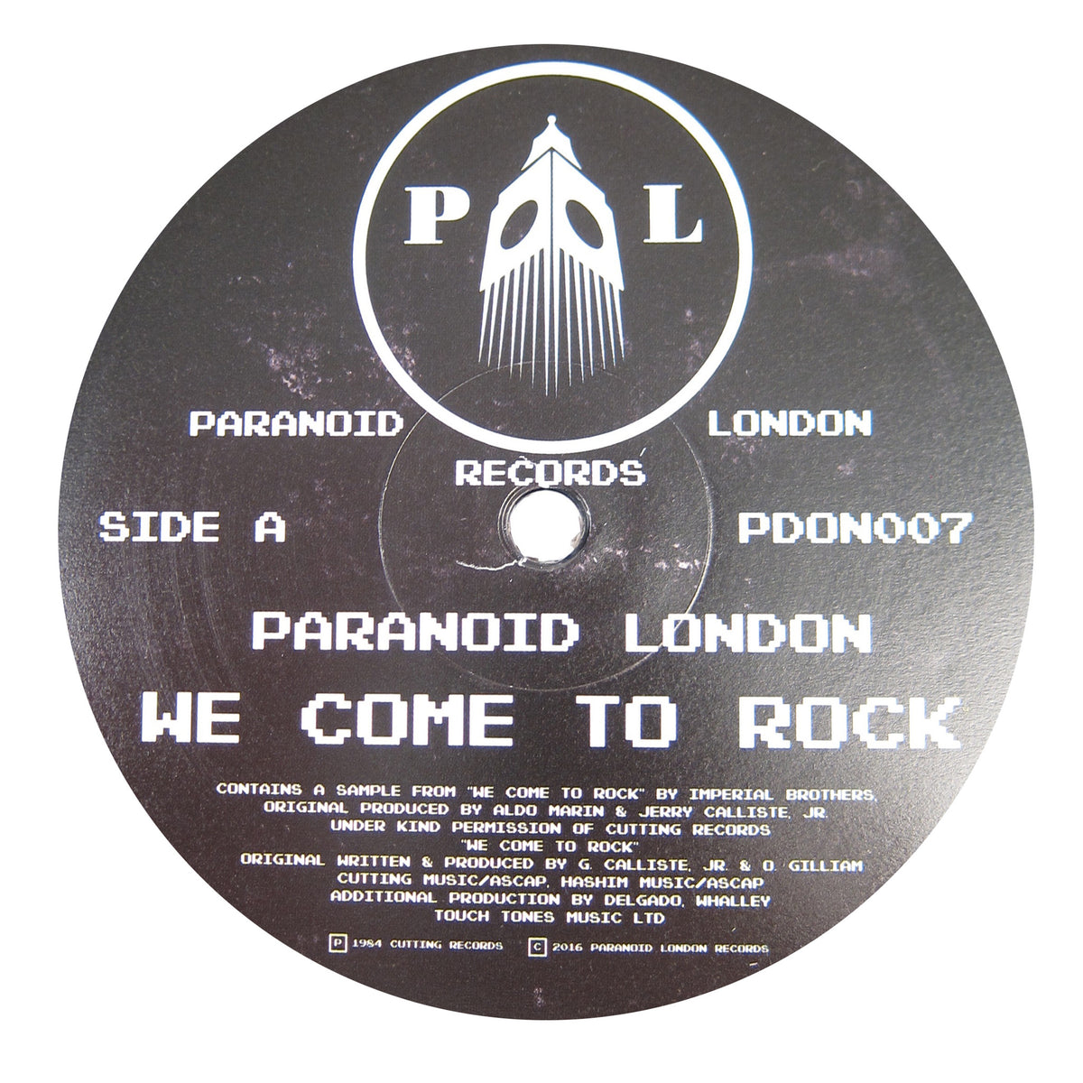 Paranoid London: We Come To Rock Vinyl 12""