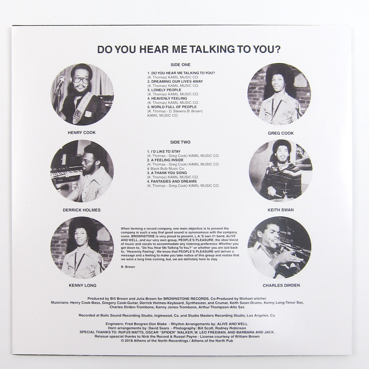 People's Pleasure With Alive And Well: Do You Hear Me Talking To You? Vinyl LP