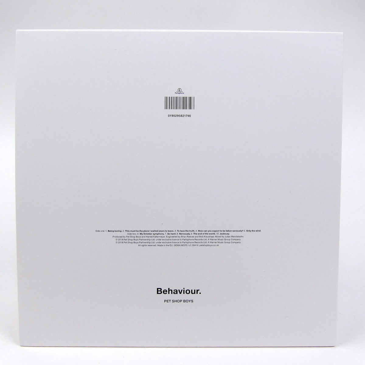 Pet Shop Boys: Behaviour (180g) Vinyl LP