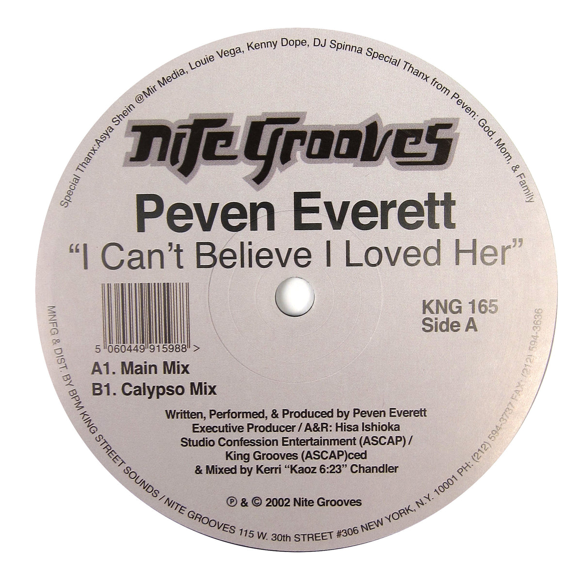 Peven Everett: I Can't Believe I Loved Her Vinyl 12""