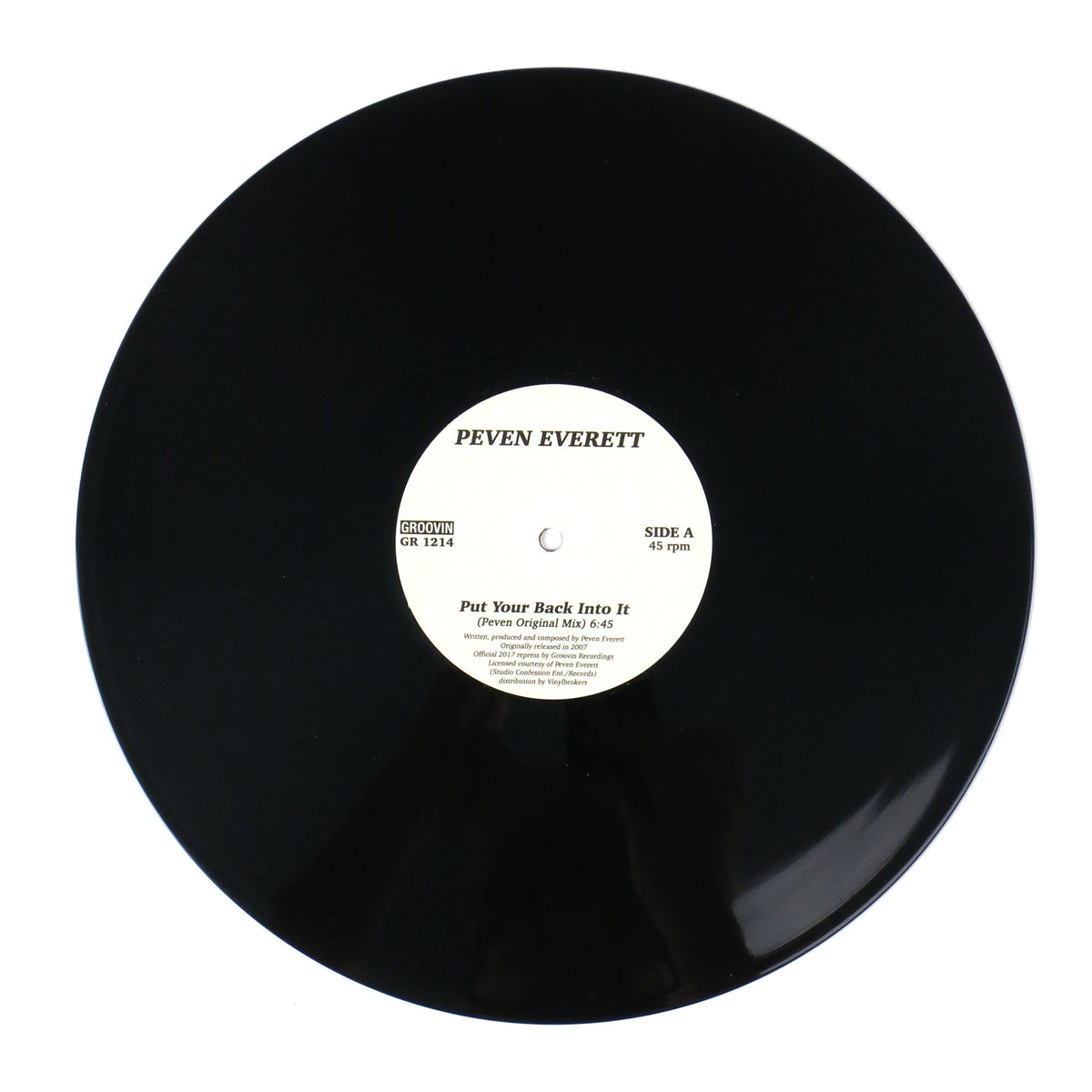 Peven Everett: Put Your Back Into It Vinyl 12""