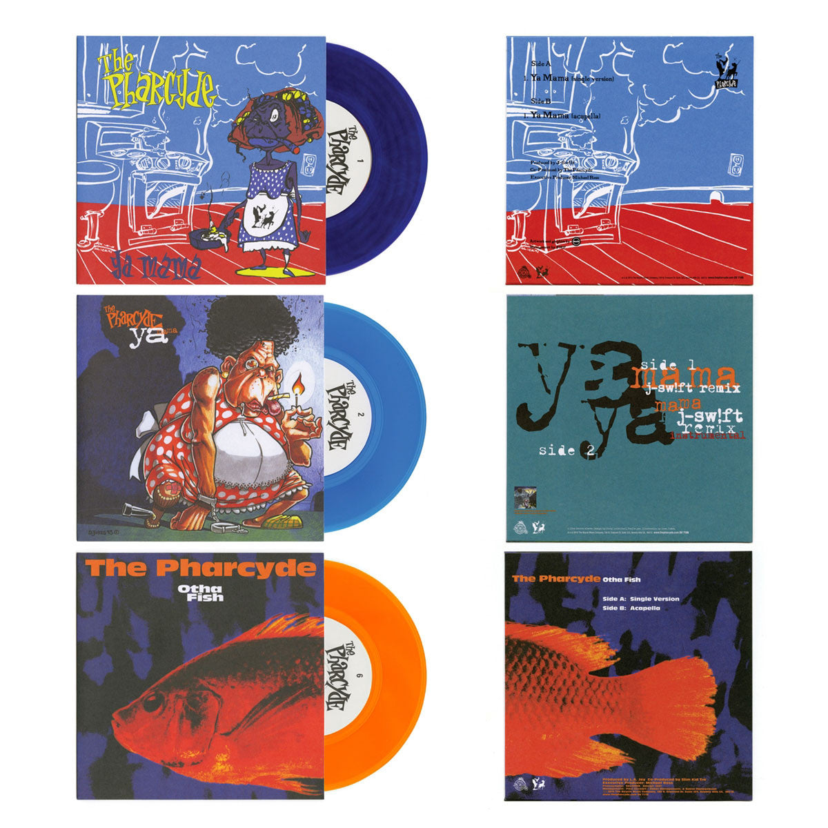 "The Pharcyde: Bizarre Ride II The Pharcyde - The Singles (Colored Vinyl) Vinyl 7"" Boxset"