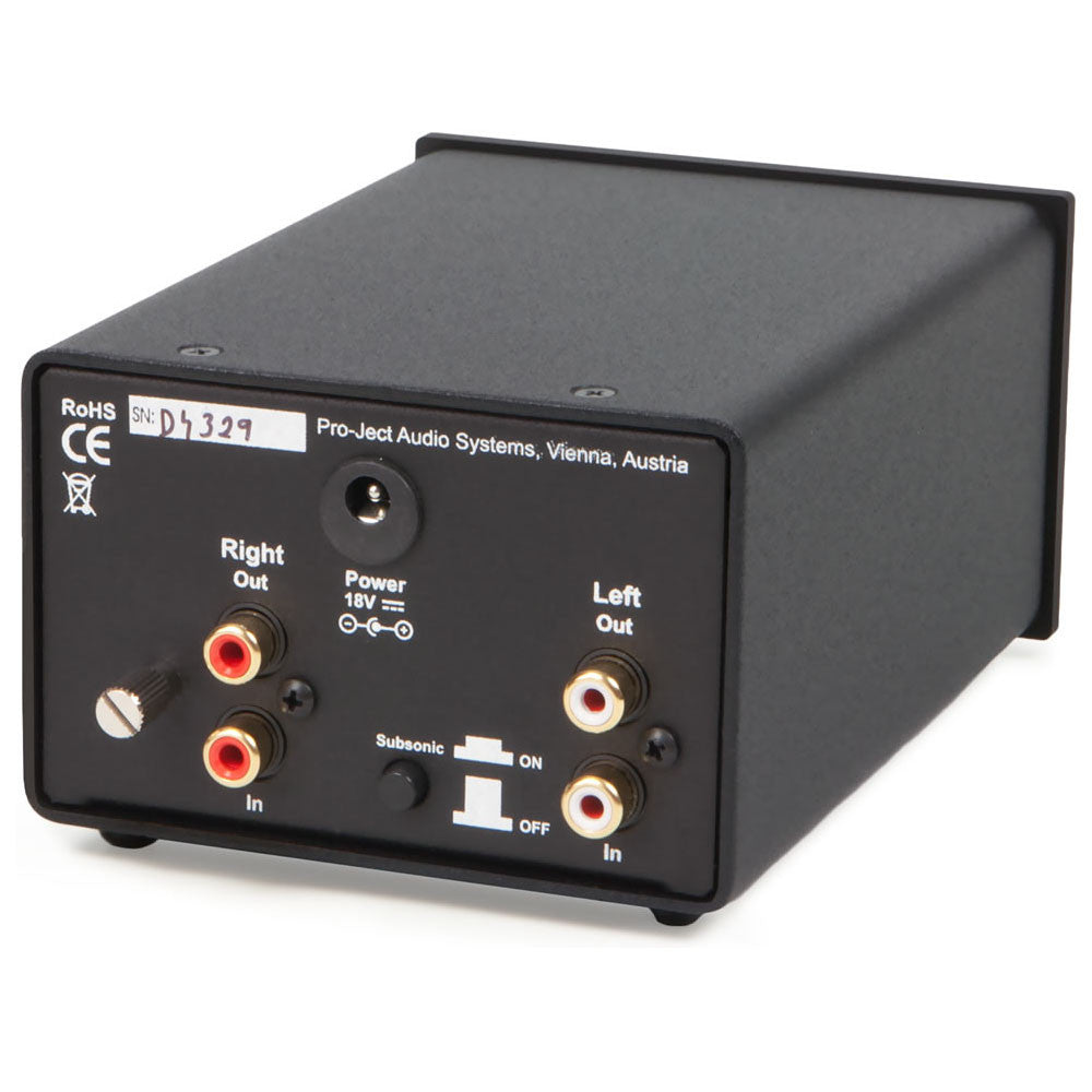 Pro-Ject: Phono Box DS Pre-Amp - Black back