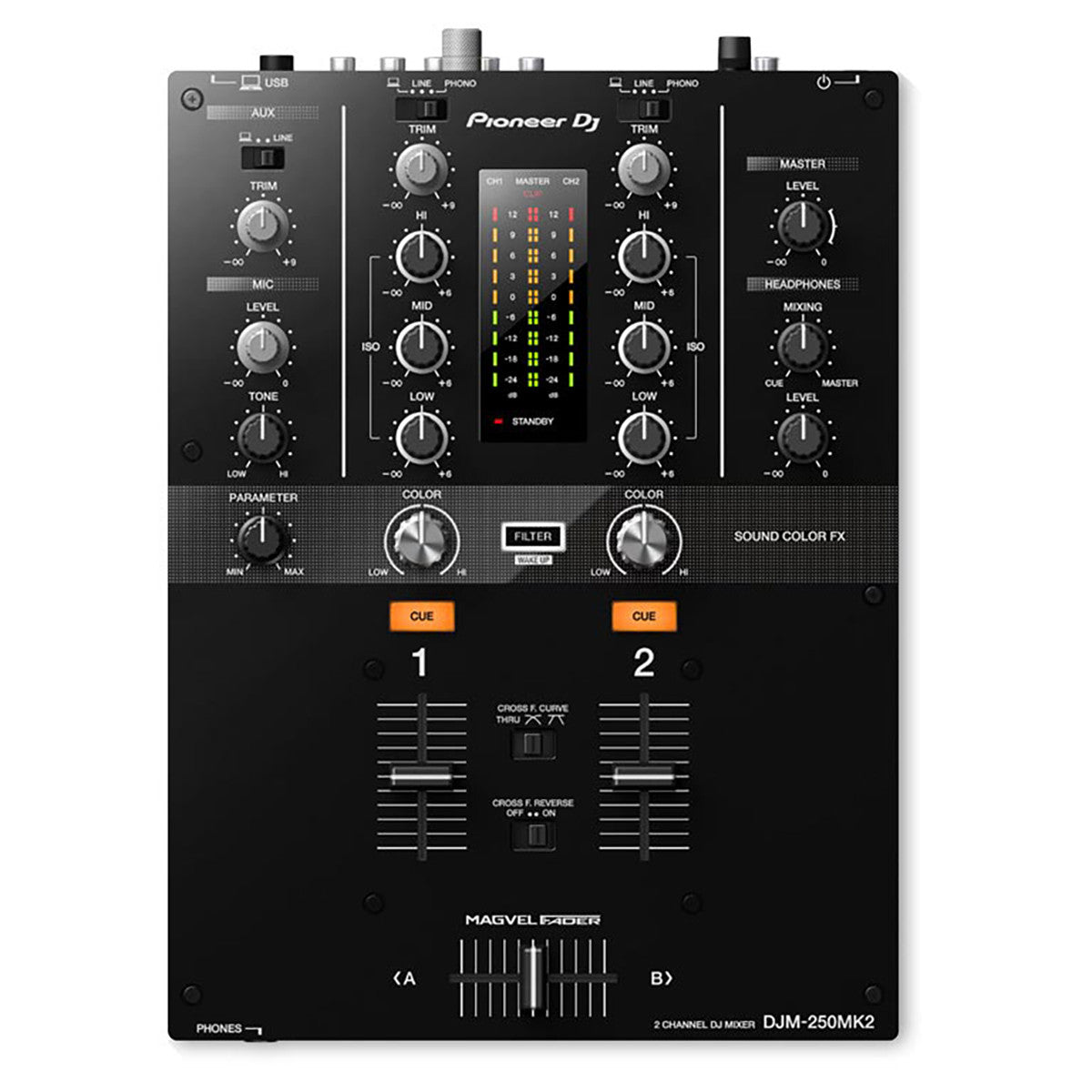 Pioneer: DJM-250MK2 Two Channel Mixer