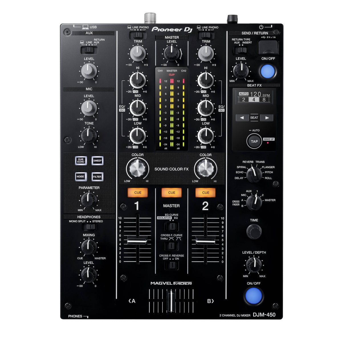 Pioneer: DJM-450 2-Channel Mixer