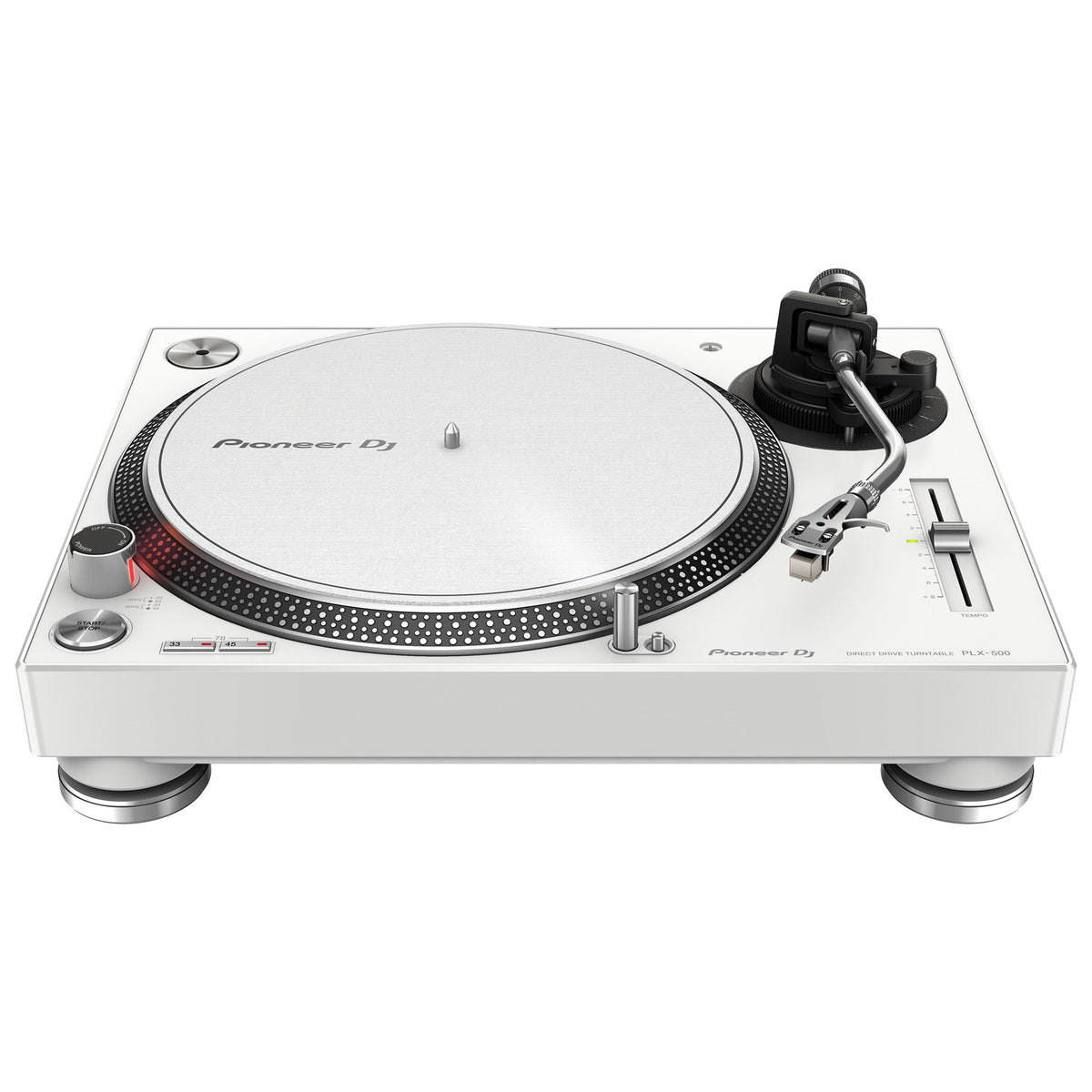 Pioneer plx 500 w direct drive usb turntable white for Direct drive turntable motor