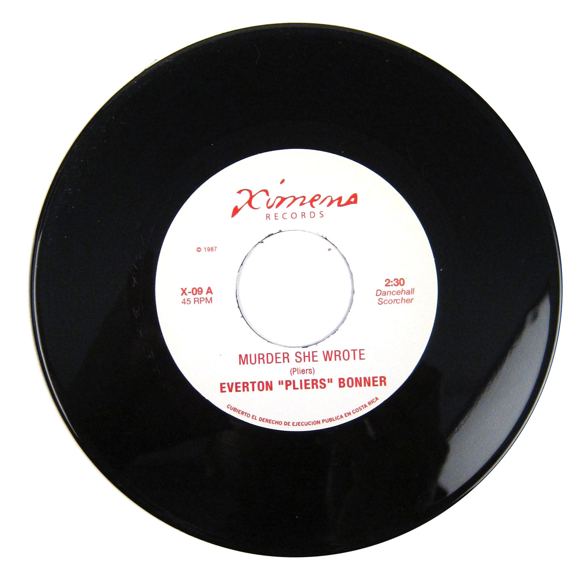 Everton Pliers Bonner / Solid Gold Orchestra: Murder She Wrote / Tracks Of Love Vinyl 7""