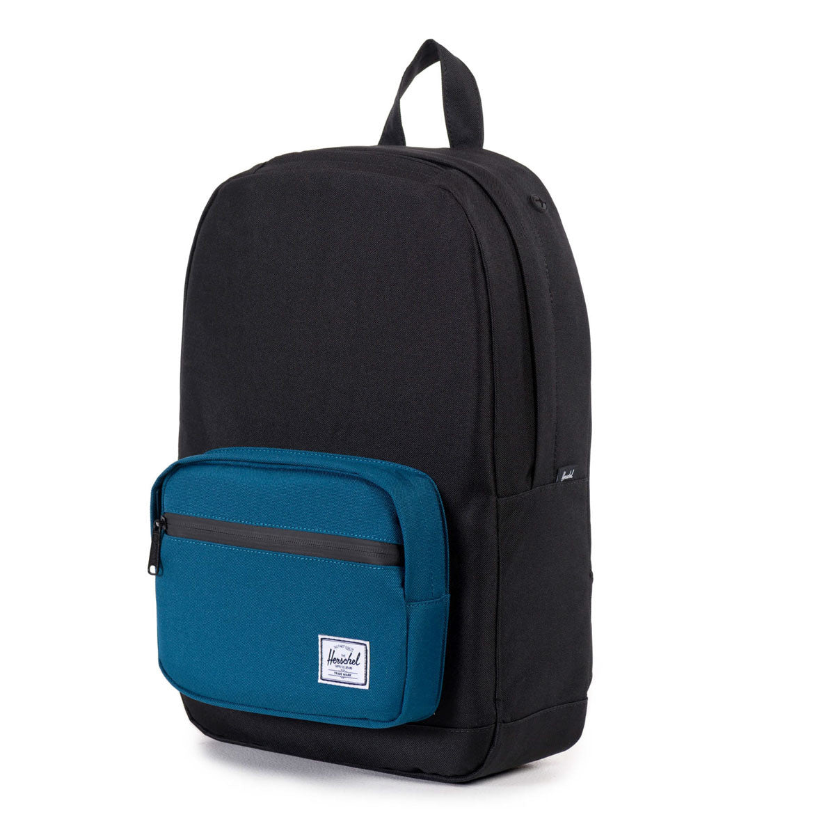 Herschel Supply Co.: Pop Quiz Mid-Volume Backpack - Black / Ink Blue