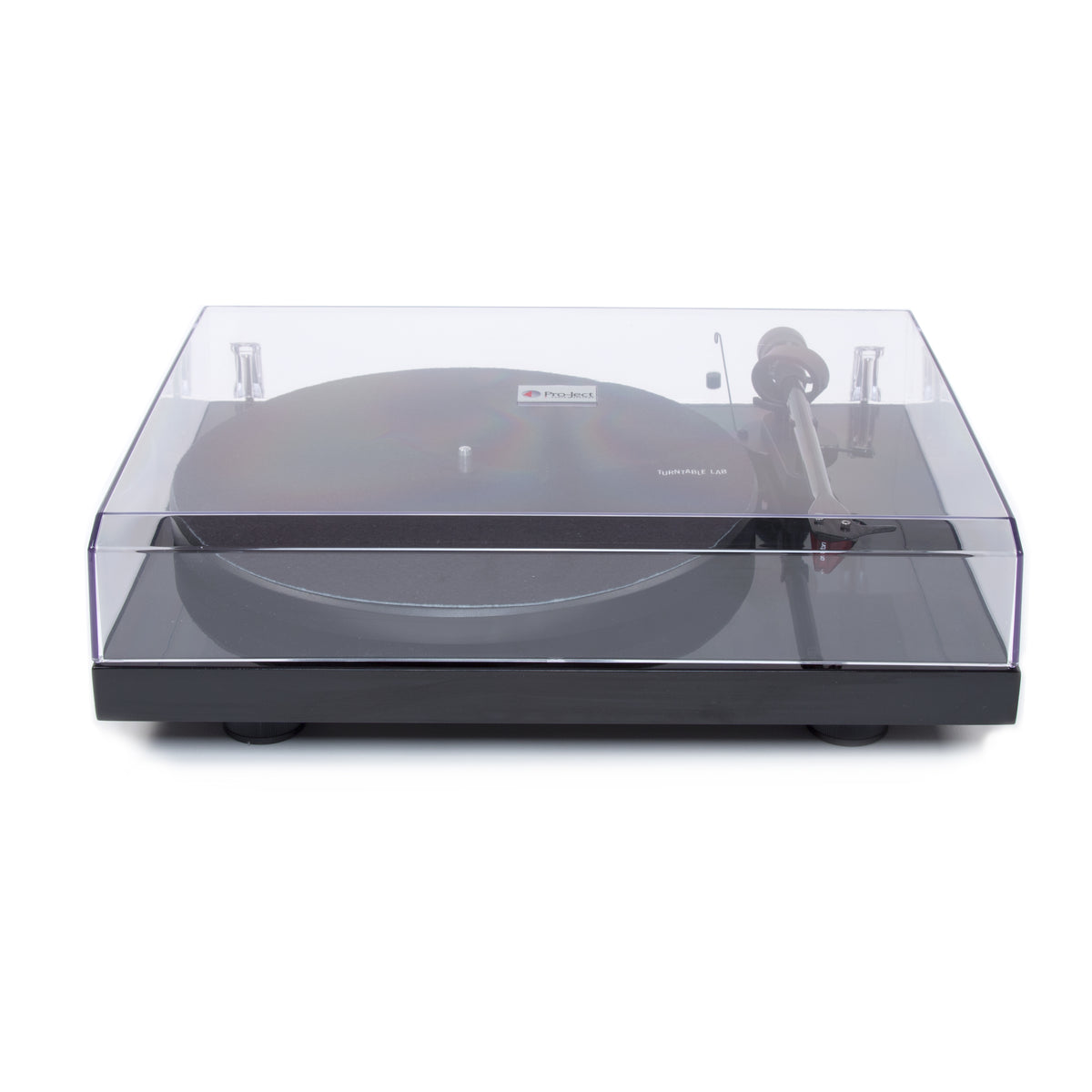 Pro-Ject: Debut Carbon DC Turntable - Gloss Black lid closed