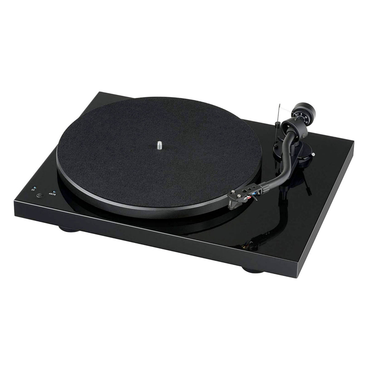 Pro-Ject: Debut SB S-Shaped Turntable - Piano Black