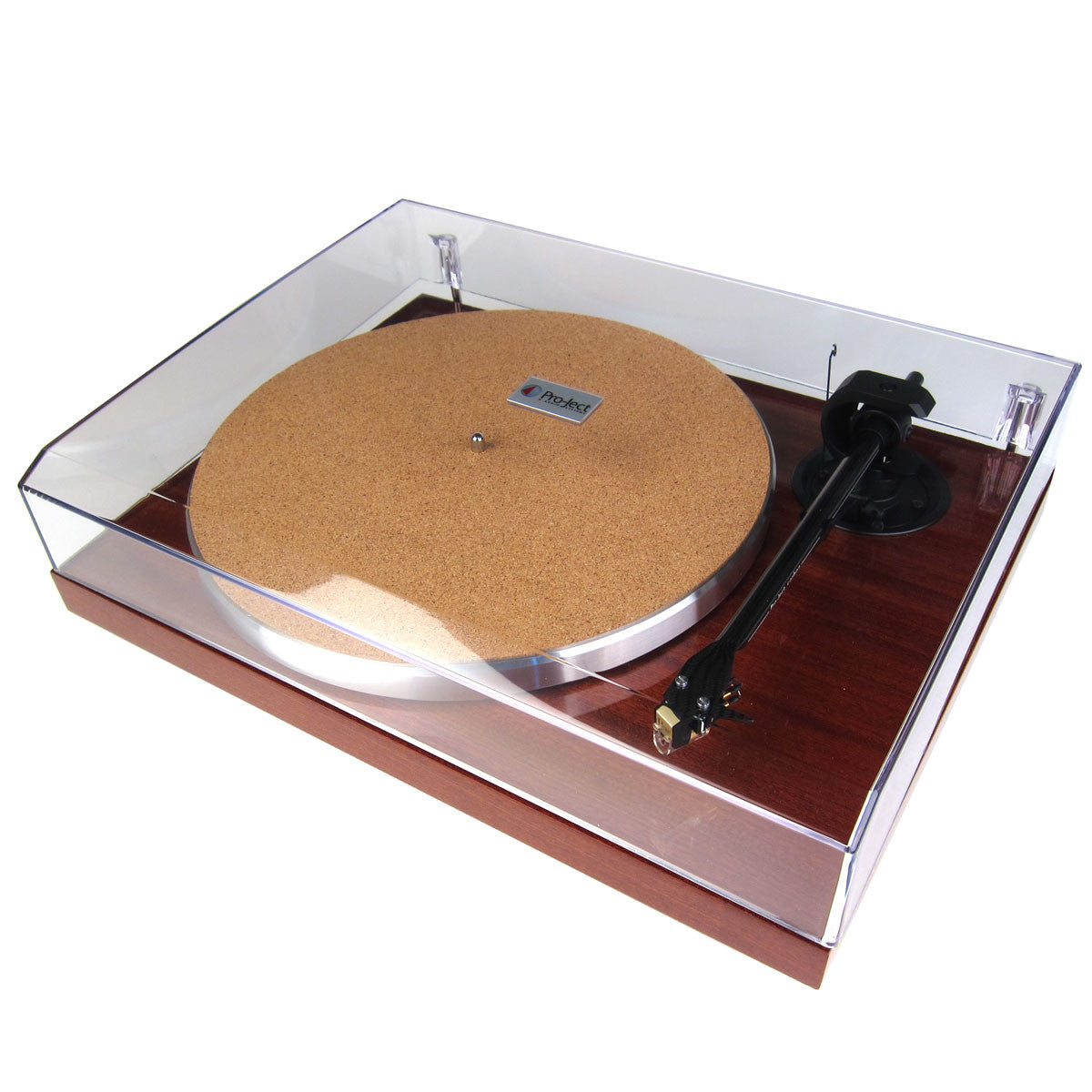 Pro-Ject: 1 Xpression Carbon Classic Turntable - Mahogany closed cover