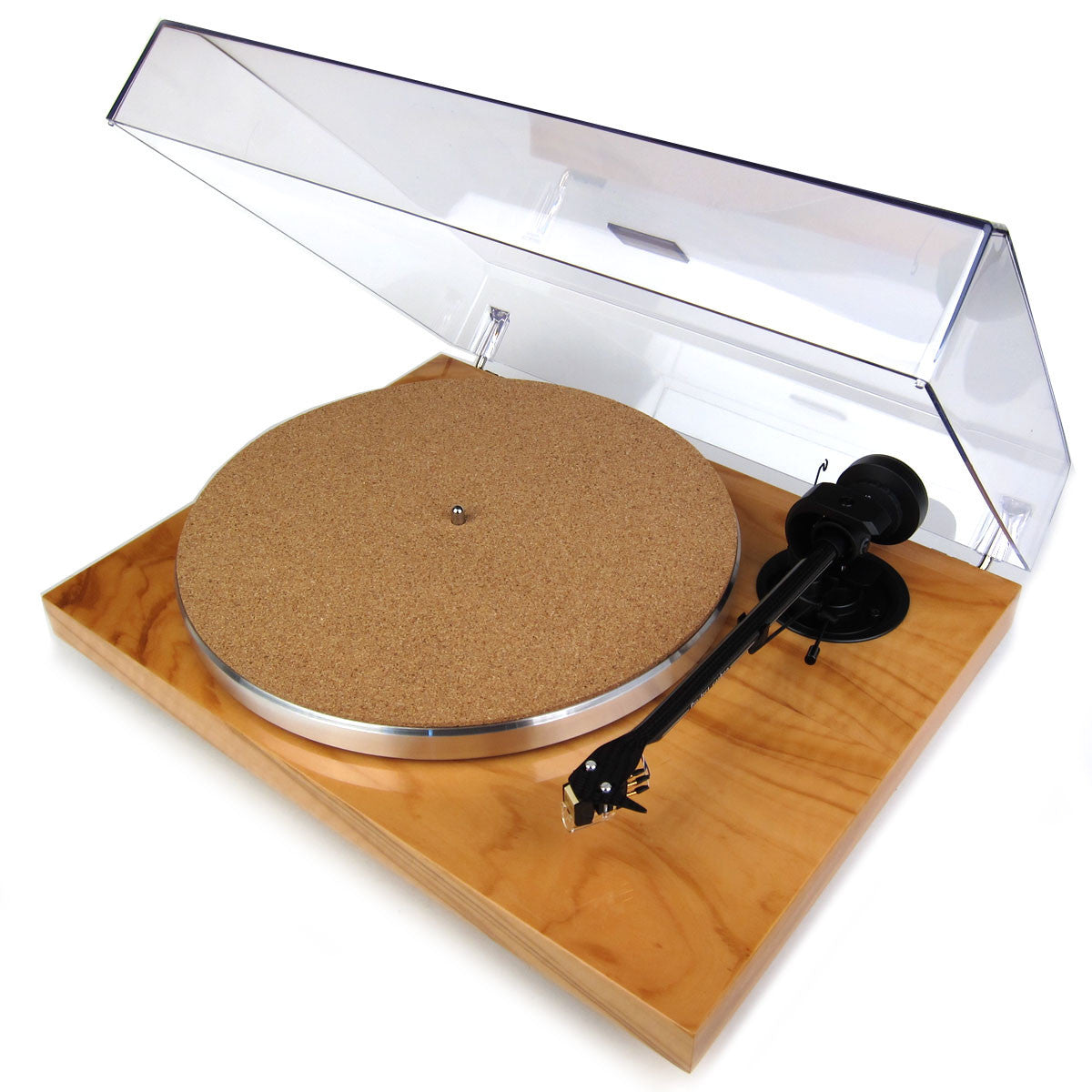 Pro-Ject: 1-Xpression Carbon Classic - Olive (Pearl) dust open