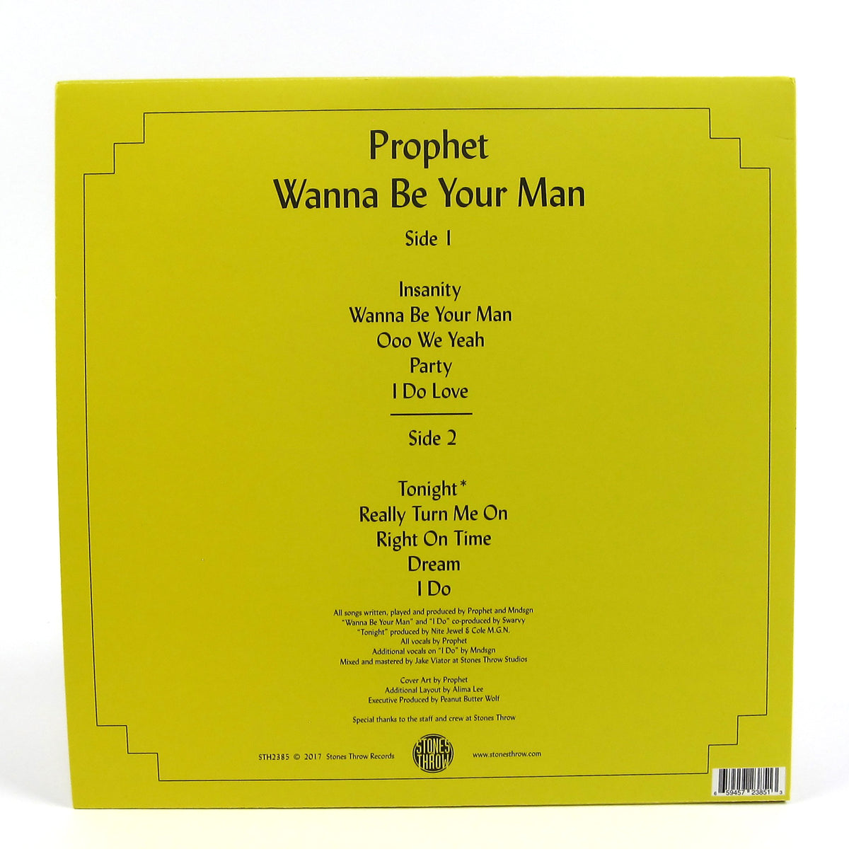Prophet: Wanna Be Your Man Vinyl LP