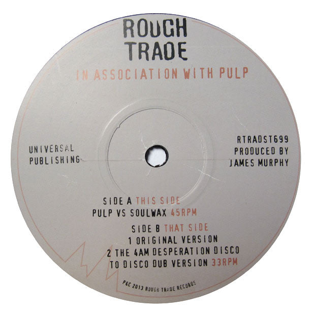 "Pulp: After You Soulwax Remix (Record Store Day) 12"" 2"