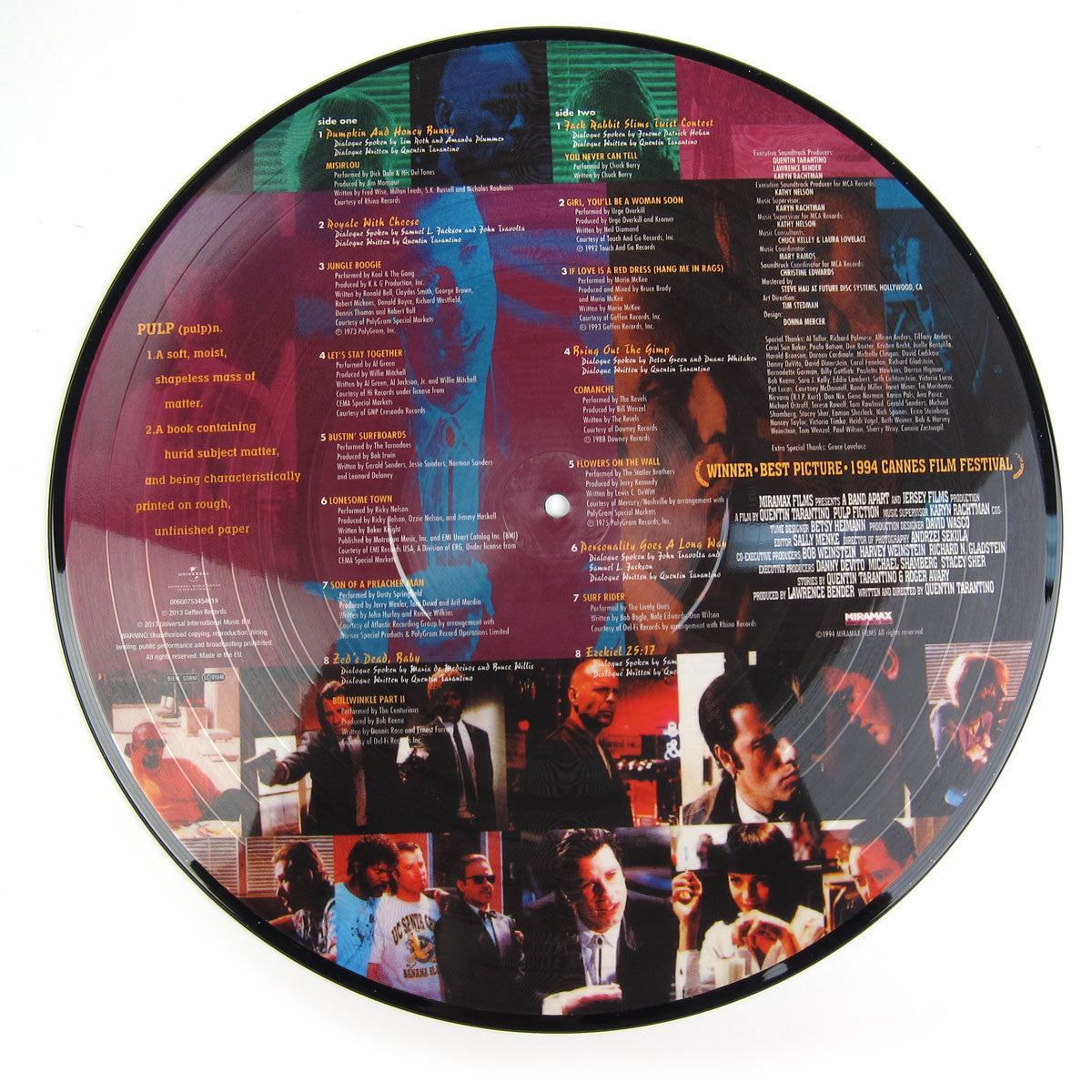 Pulp Fiction: Music From The Motion Picture (Picture Disc) Vinyl LP detail