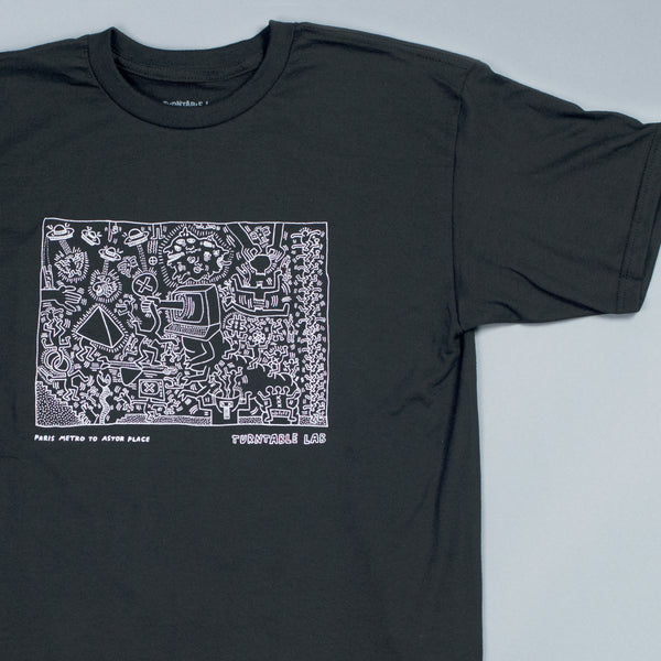 Turntable Lab: Keith Haring Astor Place Shirt - Black