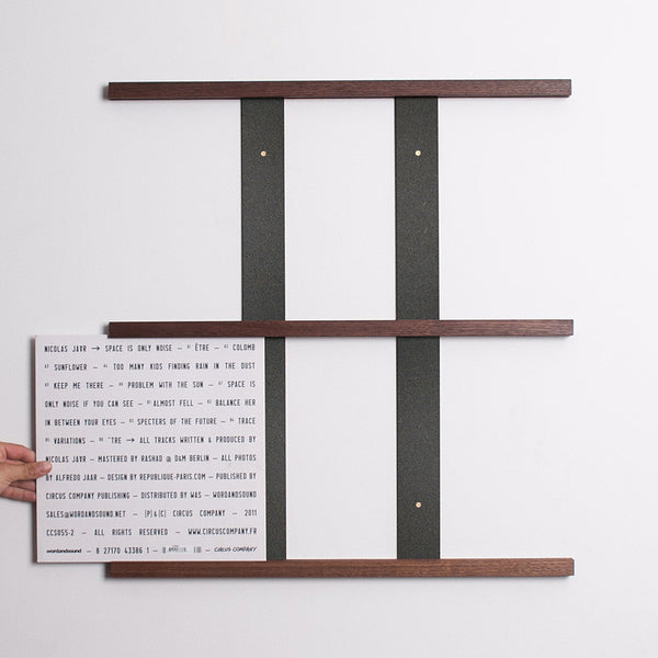 Harold: Queue Vinyl Display System - Walnut