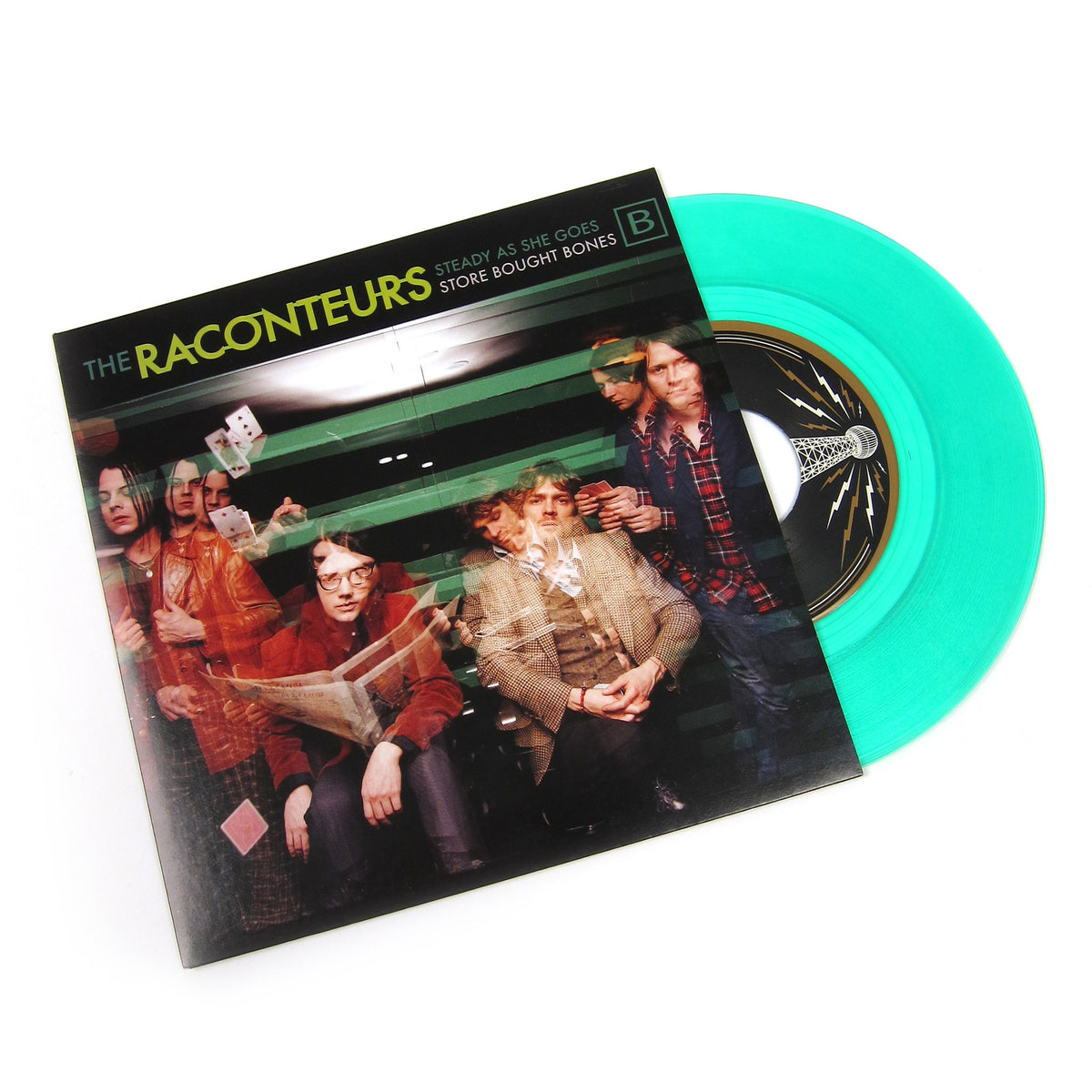 "The Raconteurs: Steady, As She Goes / Store Bought Bones (Colored Vinyl) Vinyl 7"" (Record Store Day)"