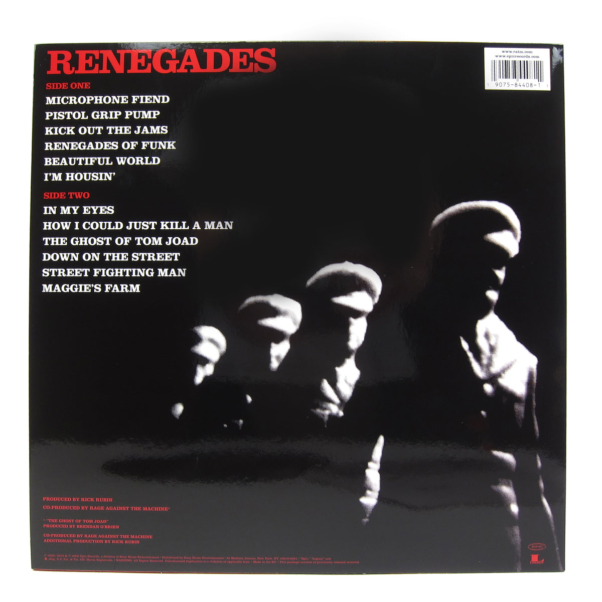 Rage Against The Machine: Renegades (180g) Vinyl LP