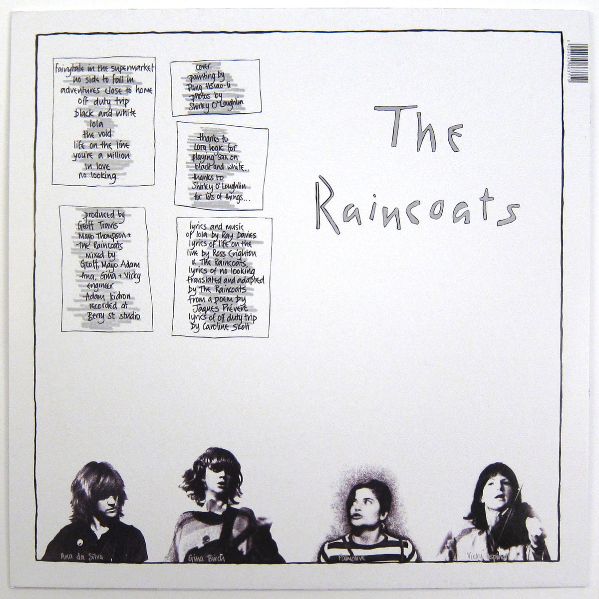 The Raincoats: The Raincoats 40th Anniversary Edition (180g, Colored Vinyl) Vinyl LP