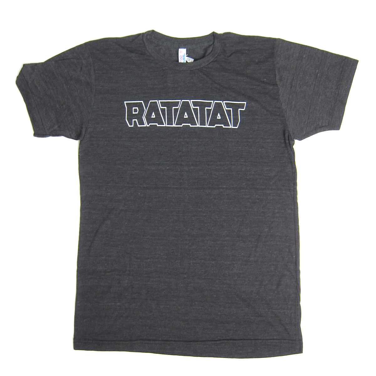 Ratatat: White Outline Logo Shirt - Black