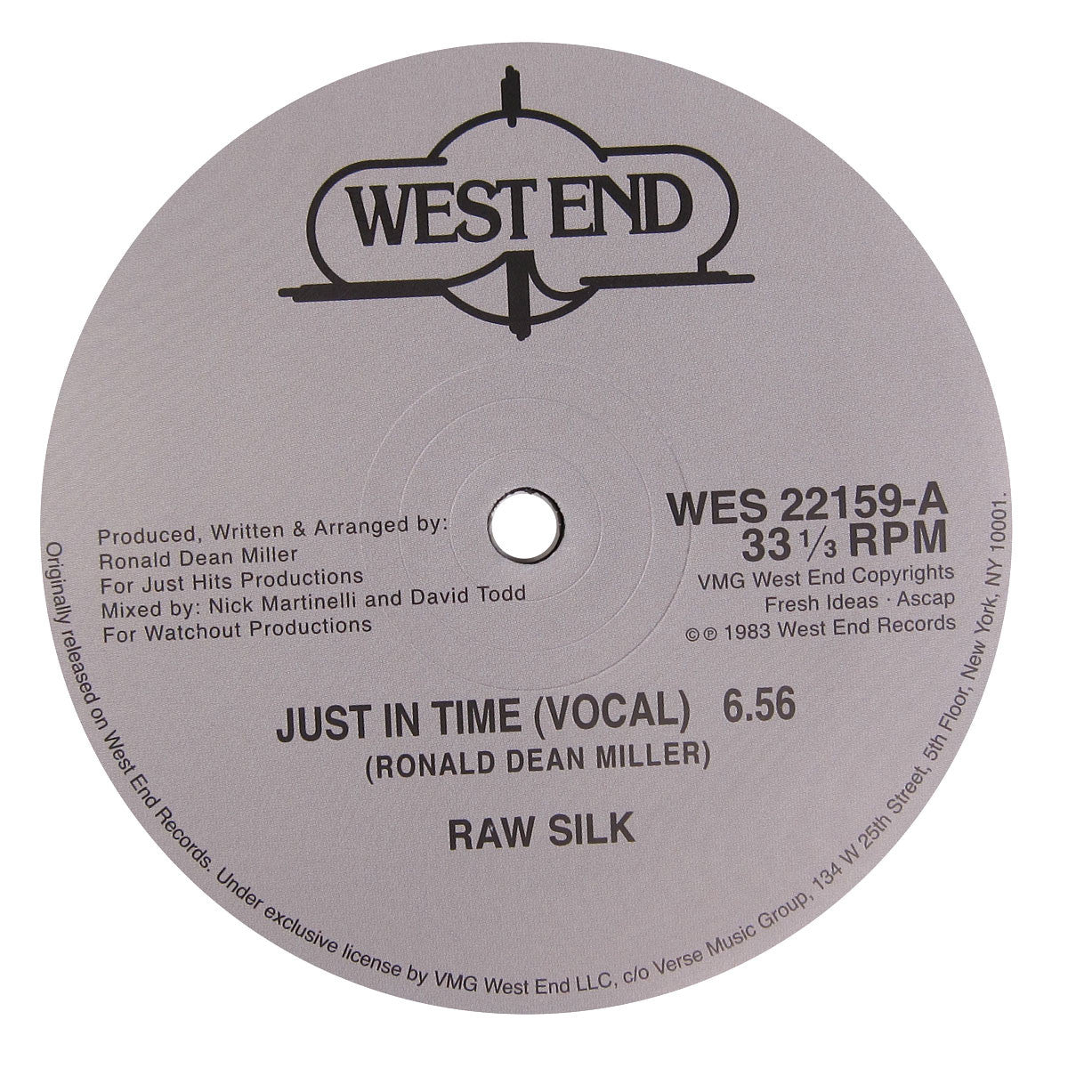 Raw Silk: Just In Time Vinyl 12""
