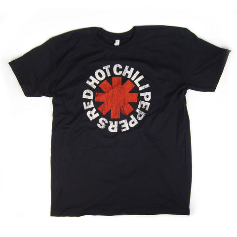 Red Hot Chili Peppers: Distressed Asterisk Shirt -Black