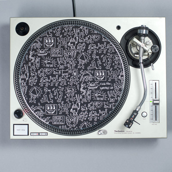 Turntable Lab: Keith Haring Slipmat Record Mat - Black - PRE-ORDER