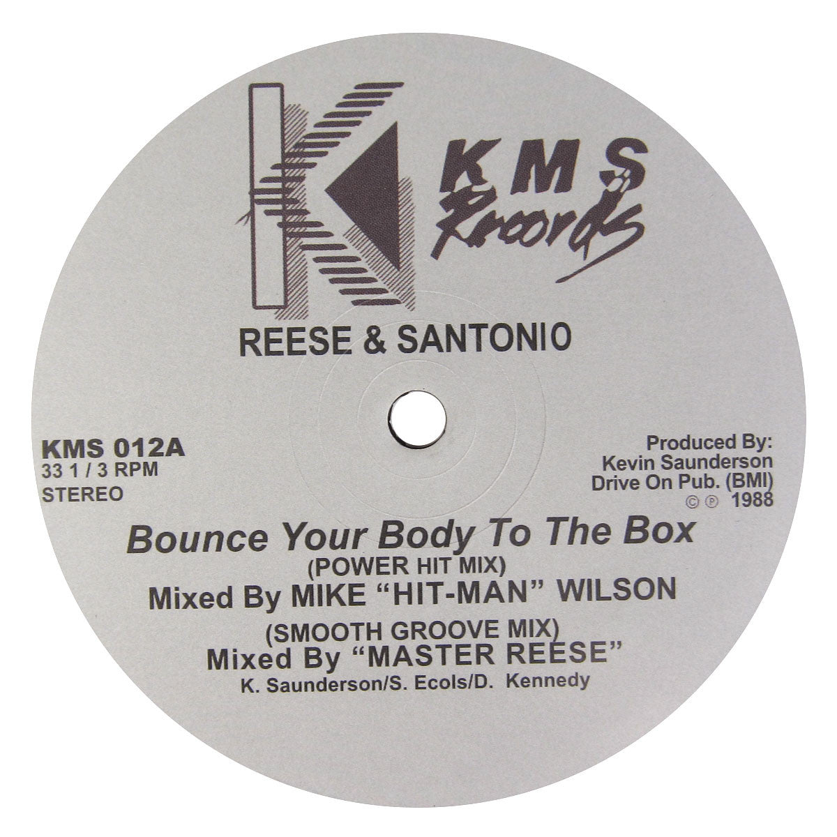 Reese & Santonio: Bounce Your Body (Derrick May) Vinyl 12""