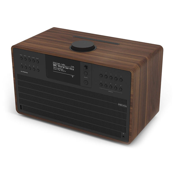 Revo: SuperCD Music System - Walnut / Black