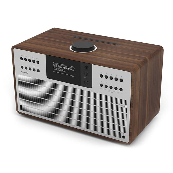 Revo: SuperCD Music System - Walnut / Silver