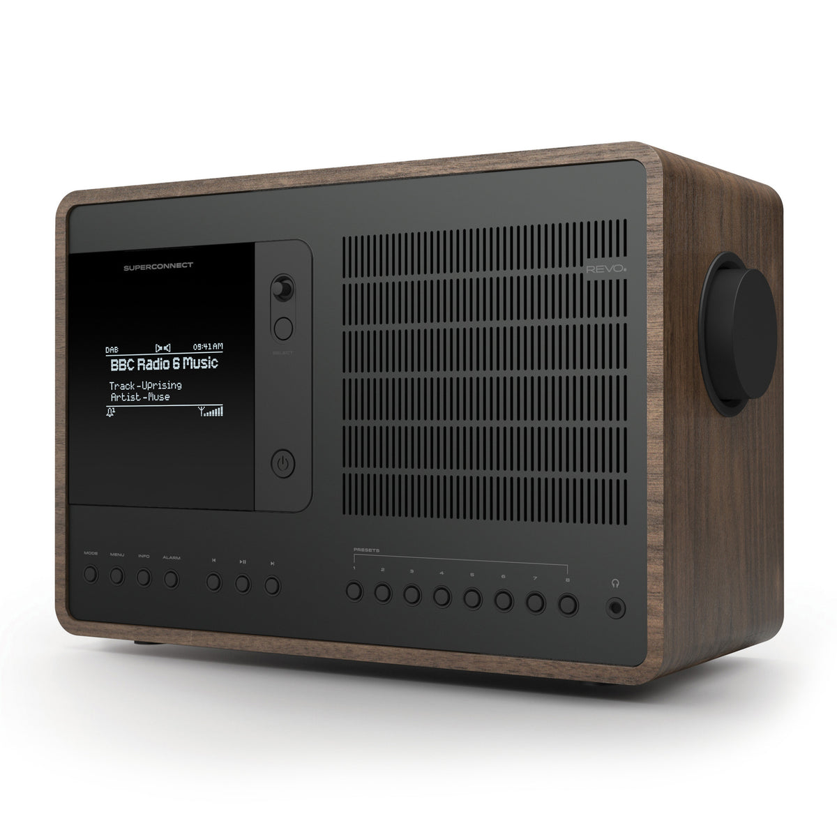 Revo: SuperConnect Radio / Connected Speaker - Walnut / Black