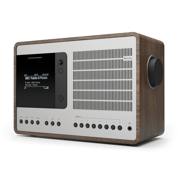 Revo: SuperConnect Radio / Connected Speaker - Walnut / Silver