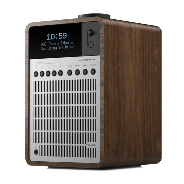 Revo: SuperSignal Radio / Connected Speaker - Walnut / Silver