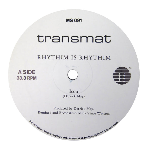 Rhythim Is Rhythim: Icon / Kao-Tic Harmony (Derrick May, Vince Watson Reconstructions) Vinyl 12""