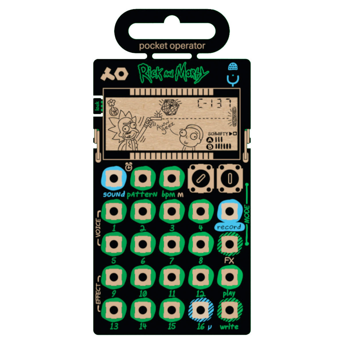 Teenage Engineering: Rick And Morty PO-137 Pocket Operator (TE010AS137)