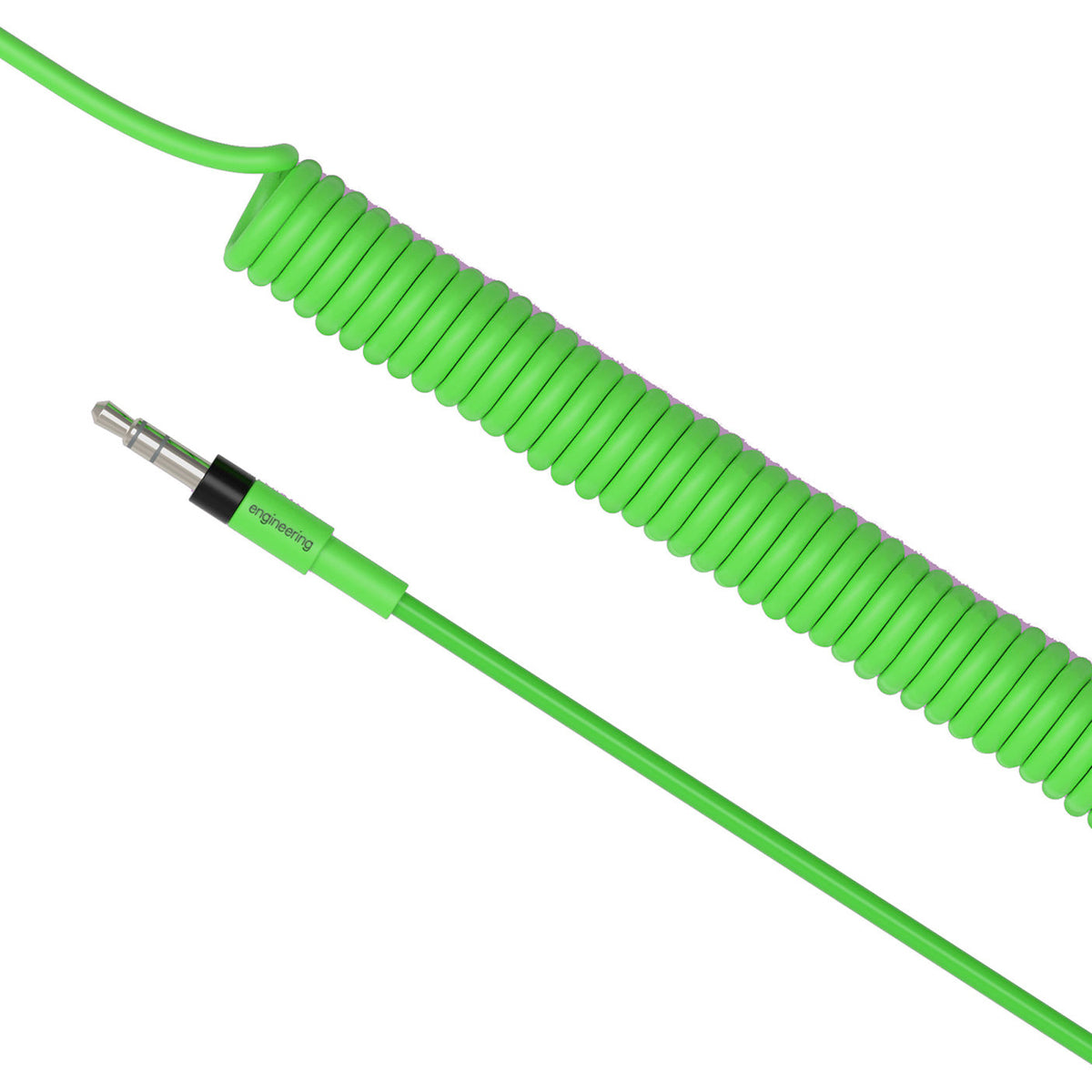 Teenage Engineering: Rick And Morty Curly Audio Cable - Green (TE010XS011)
